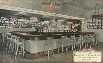 Gallaghers Steakhouse during prohibition
